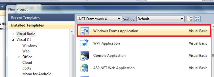 Windows Forms Application مدونة أكواد