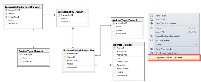 SQL Server browser حفظ مخطط قاعدة البيانات